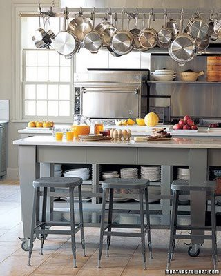 open storage kitchen island