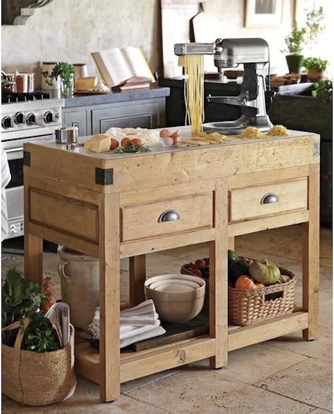 small timber kitchen island