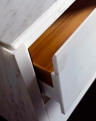 marble kitchen door detail