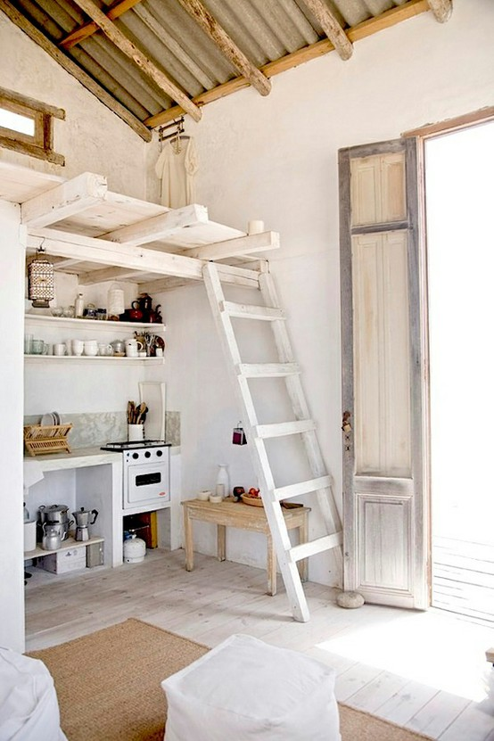small rustic kitchen