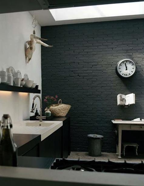 black textured wall
