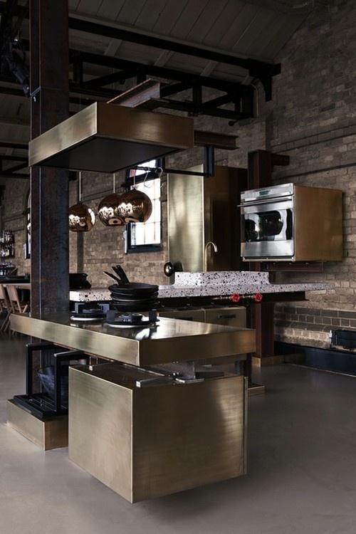 brass kitchen tom dixon
