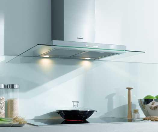glass range hood modern