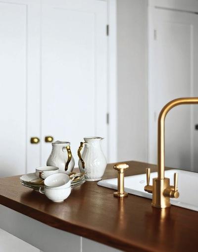 brass kitchen tap