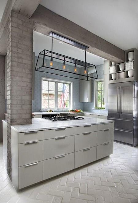 kitchen light feature