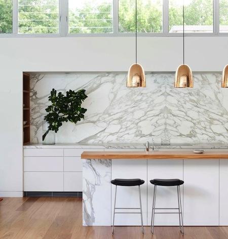 marble splashback feature