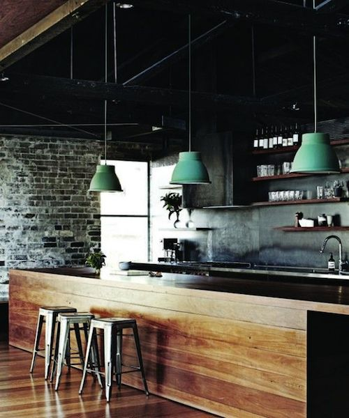 timber industrial kitchen