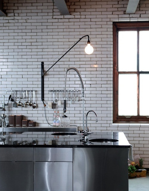 tiles and stainless steel kitchen