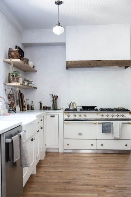 white classic industrial kitchen