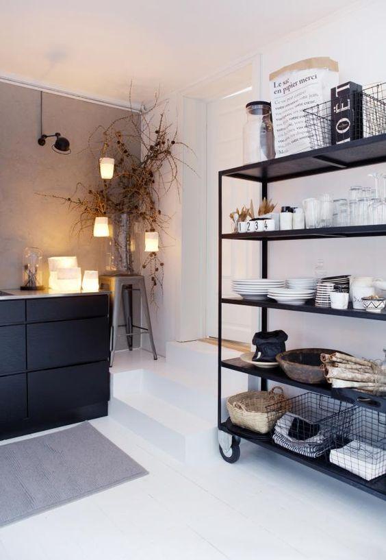 norweigan kitchen black cabinetry