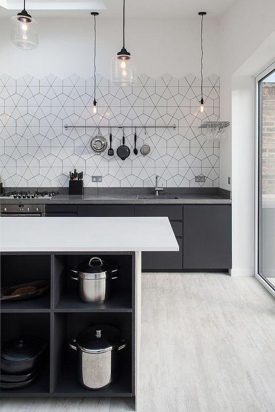 grey scandinavian kitchen design