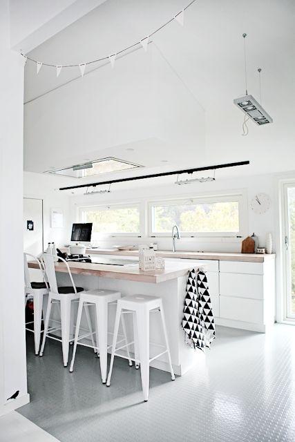 minimal white kitchen design