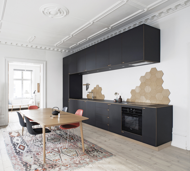 black kitchen with an oak base by Nicolaj bo | Denmark