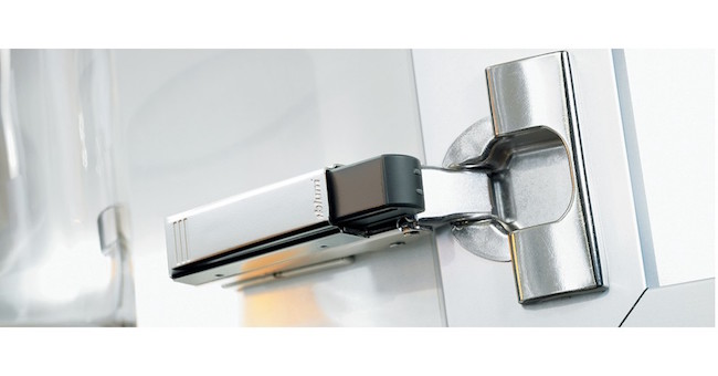 blum hinge showing soft close detail