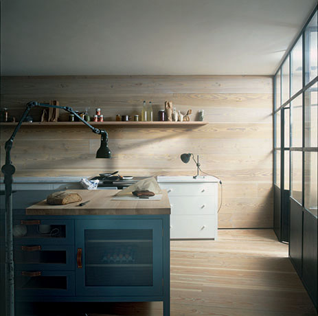 Kitchen featuring natural materials