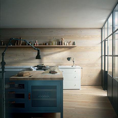 Kitchen featuring natural materials
