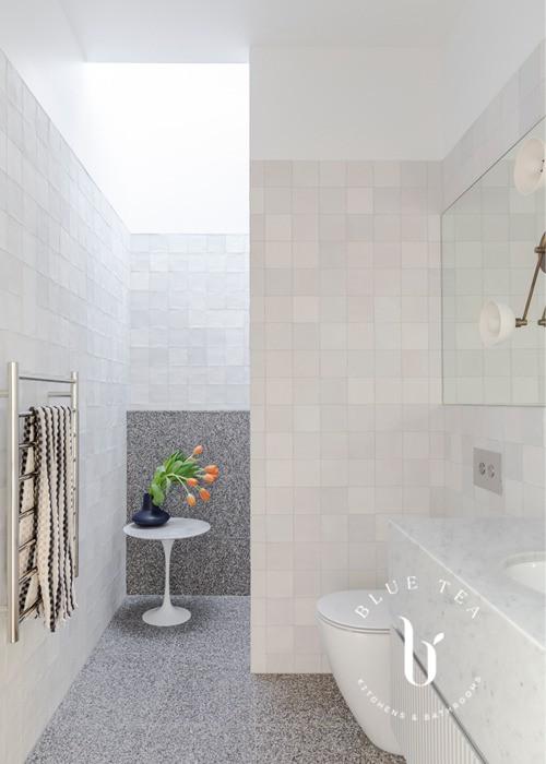 Terrazzo and tile bathroom design
