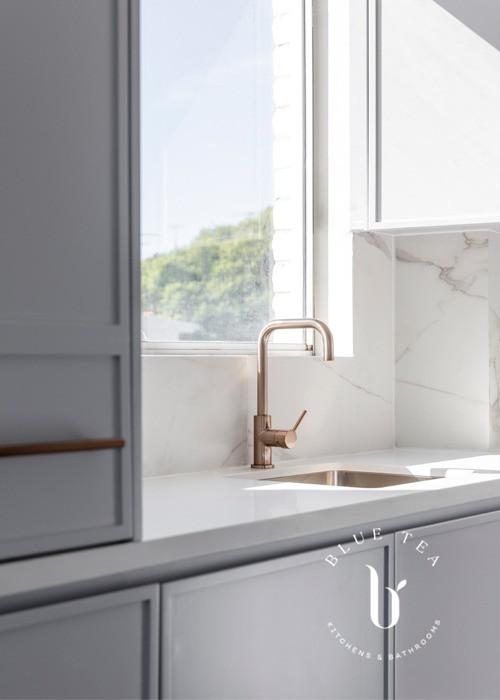 Brass tap details | Bronte kitchen