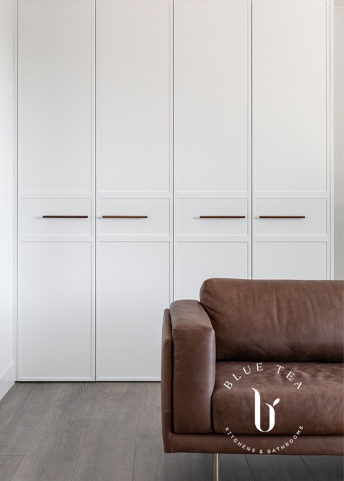Modern Pantry design with timber handles