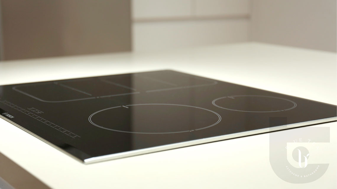 Close up of induction cooktop in Croydon.