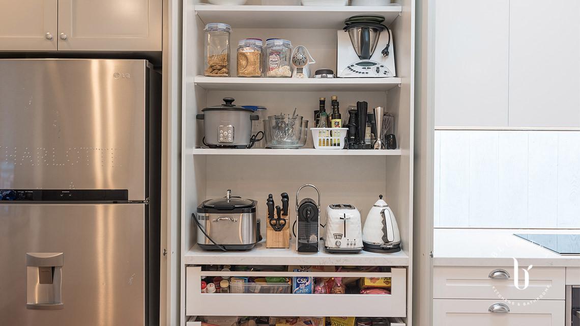 Shaker kitchen inner pantry drawers | Blue Tea