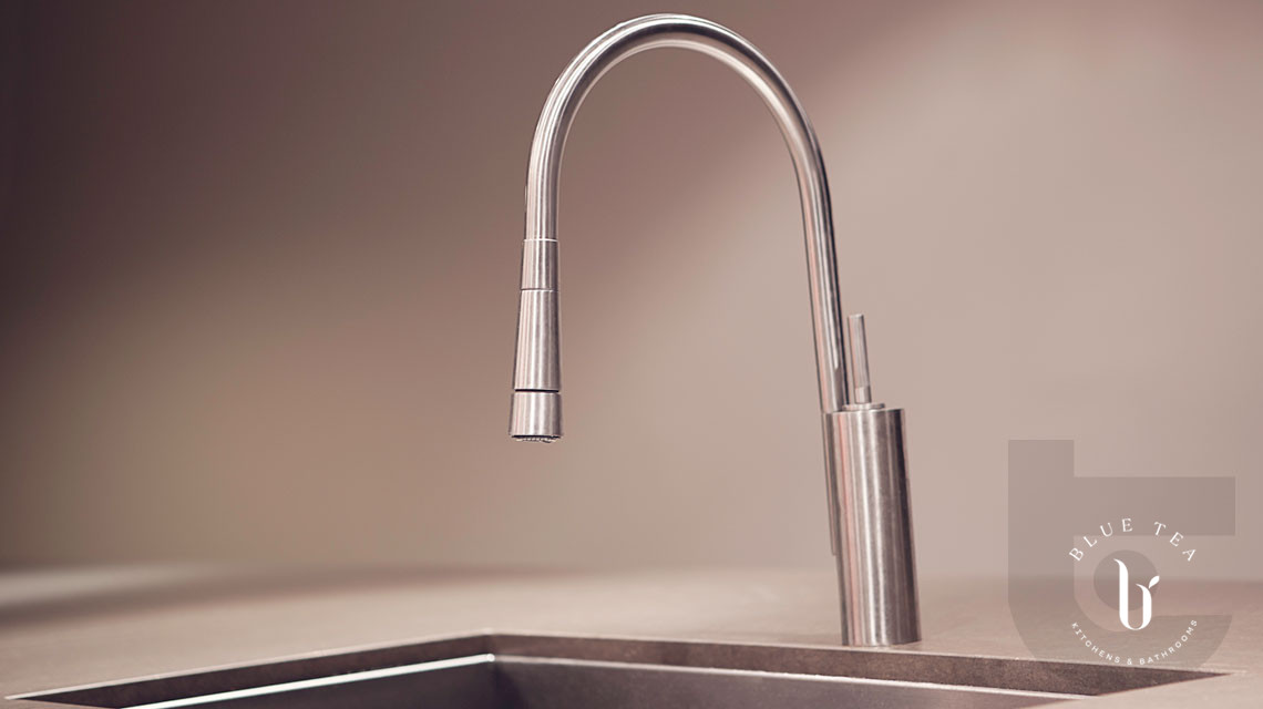Close up of tap and undermount sink, Maroubra.