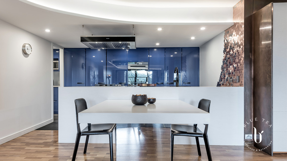 Blue Kitchen with Island Dining | Blue Tea