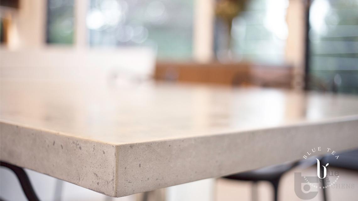 stone bench top in modern kitchen