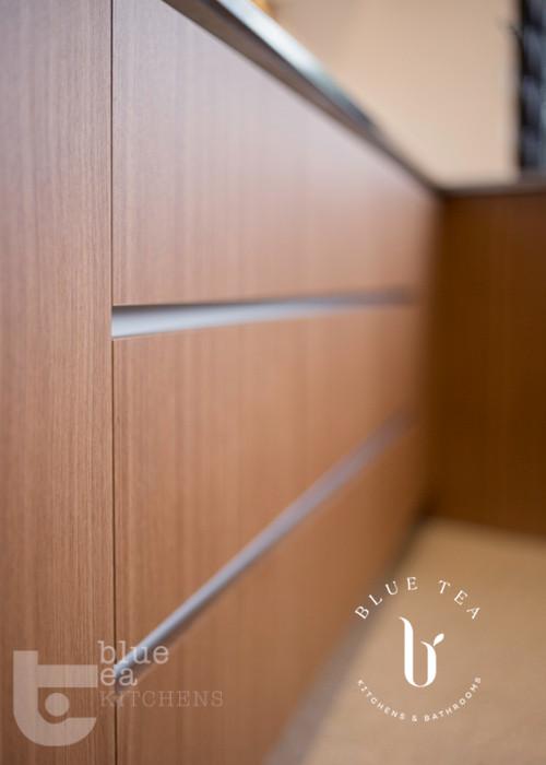 modern kitchen door detail