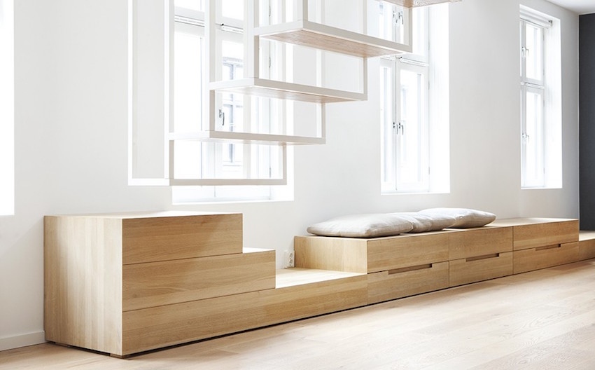 Beautiful staircase joinery by architects Haptic