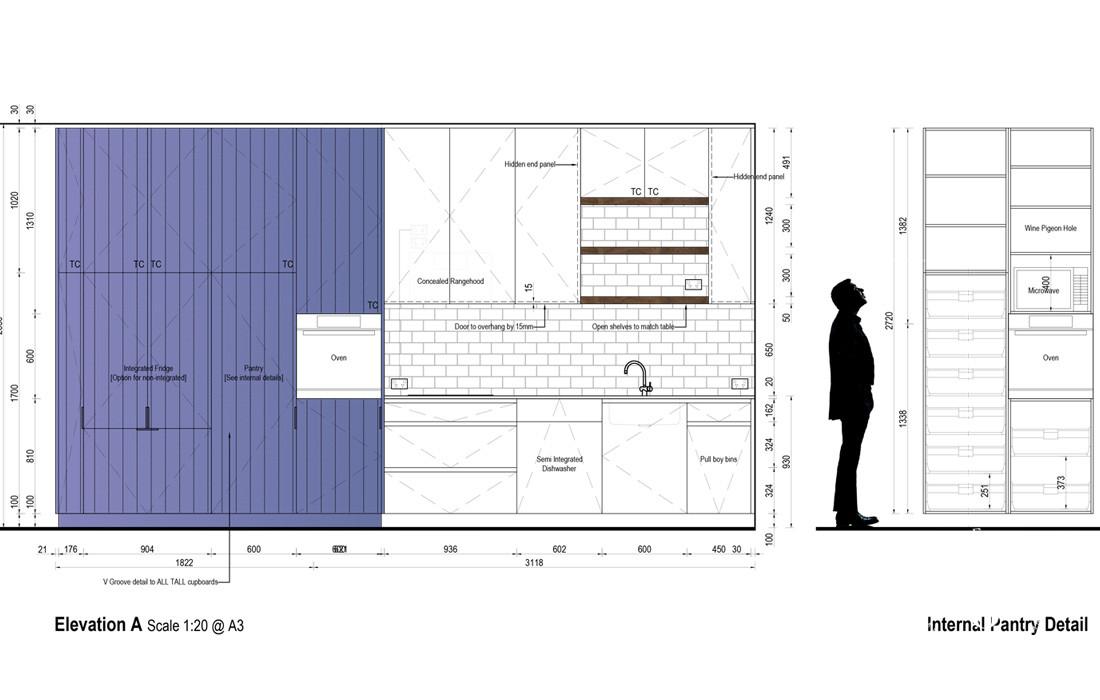 Kitchen Elevation Planning | Blue Tea