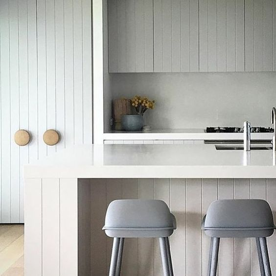 V-groove farm style kitchen