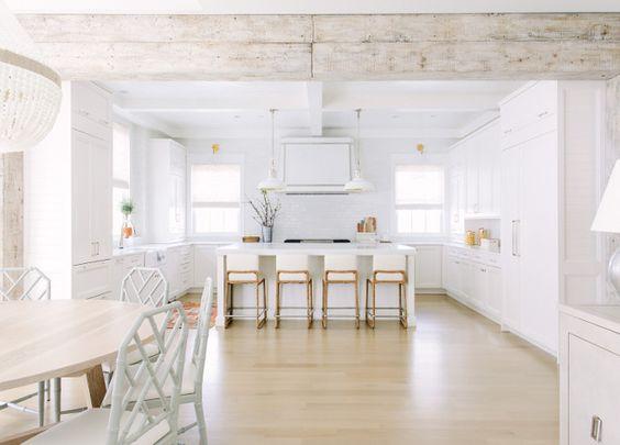modern farm style kitchen in white