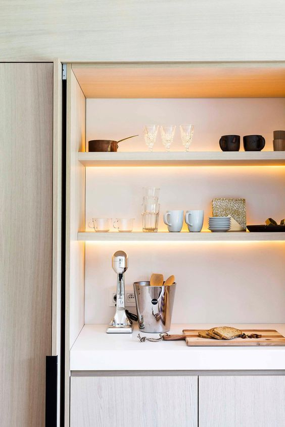 detail of pocket door pantry | Puma architects