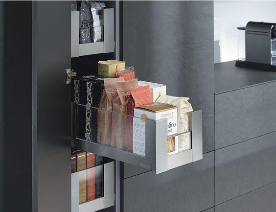 narrow pantry by Blum