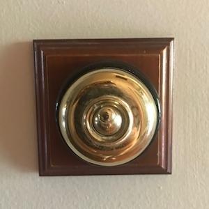 light switch in brass