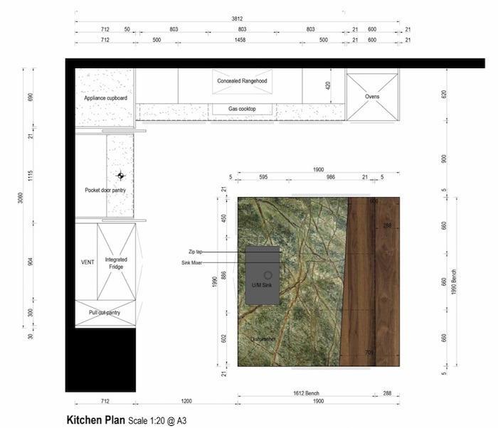 blue tea kitchen plans