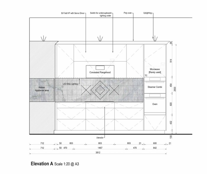 kitchen elevation drawings