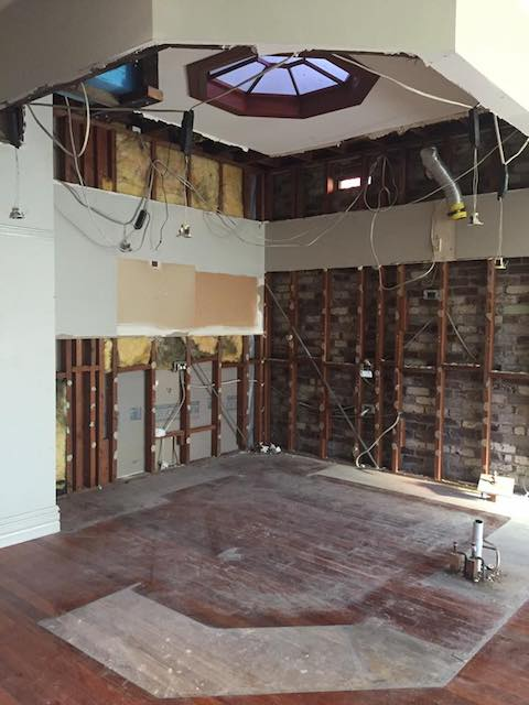 Picture of the old Drummoyne kitchen being removed