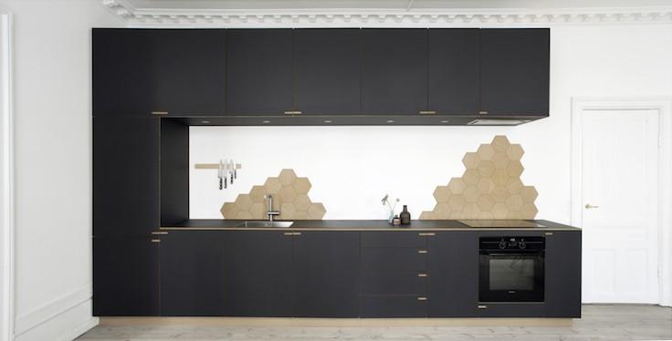 black kitchen designed by Nicolaj Bo | Denmark