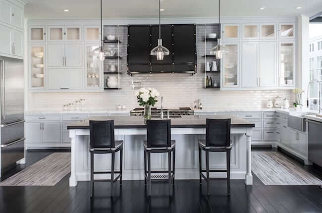 adam hunter kitchen with cabinets in dove grey