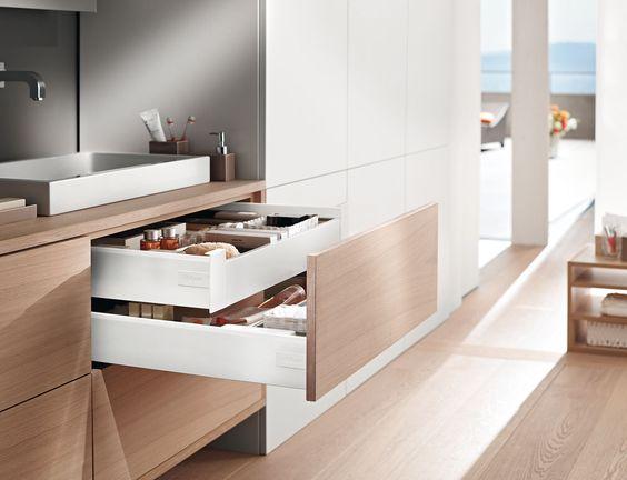 blum inner drawers | small kitchen ideas | Blue Tea