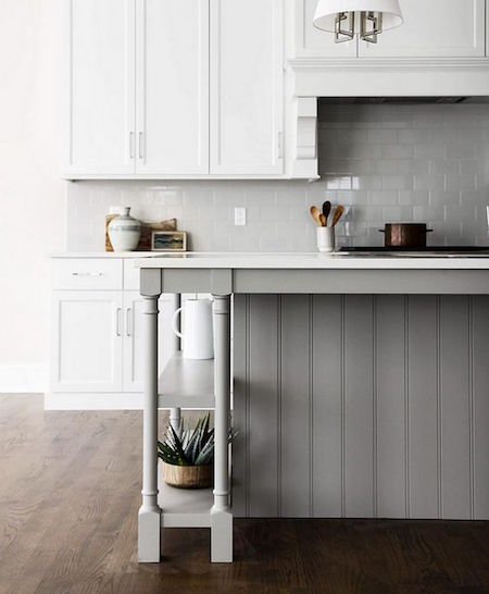 Grey and White Hamptons Kitchen | Blue Tea