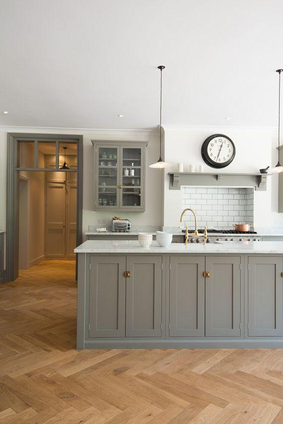 grey hamptons style kitchen