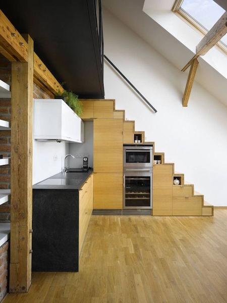 Kitchen below stairs