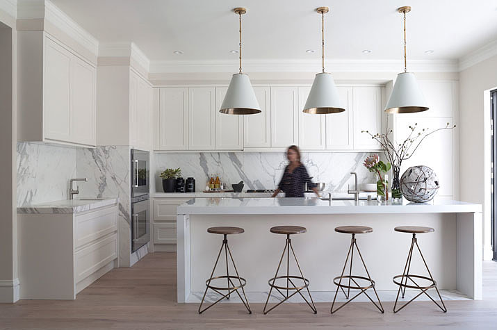 Modern Hamptons Style kitchen with no handles