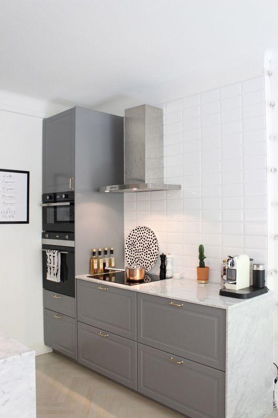 Small Grey Minimal Kitchen