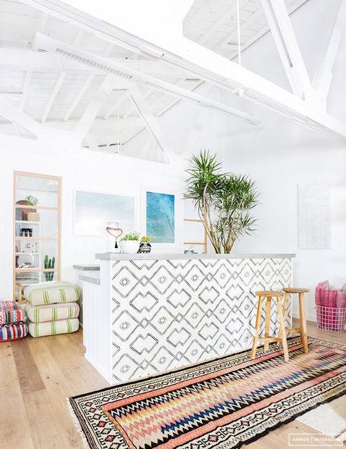 tiled kitchen island design