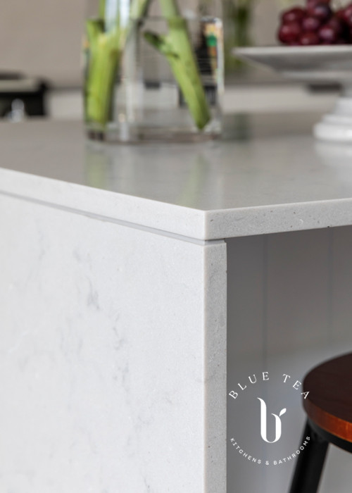 Caesarstone Benchtop and V-groove island details