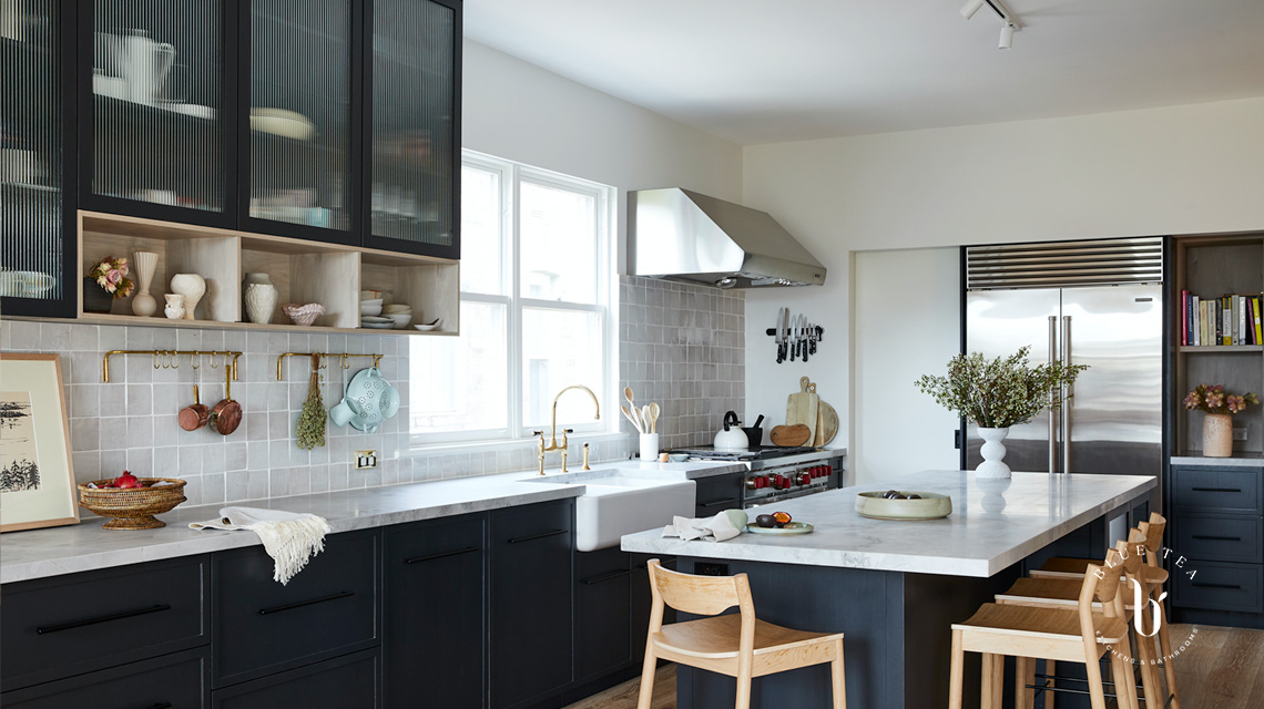 Summer Hill Kitchen Design with Wolf fridge and oven